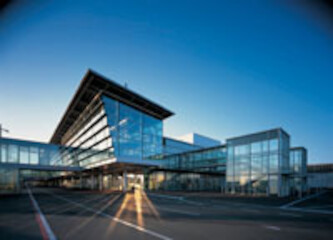 Transfer-Terminal TCT am Flughafen in Nürnberg